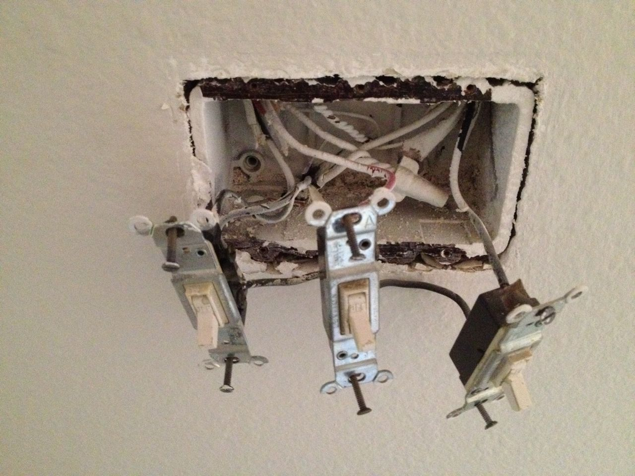 old light switches deck lighting