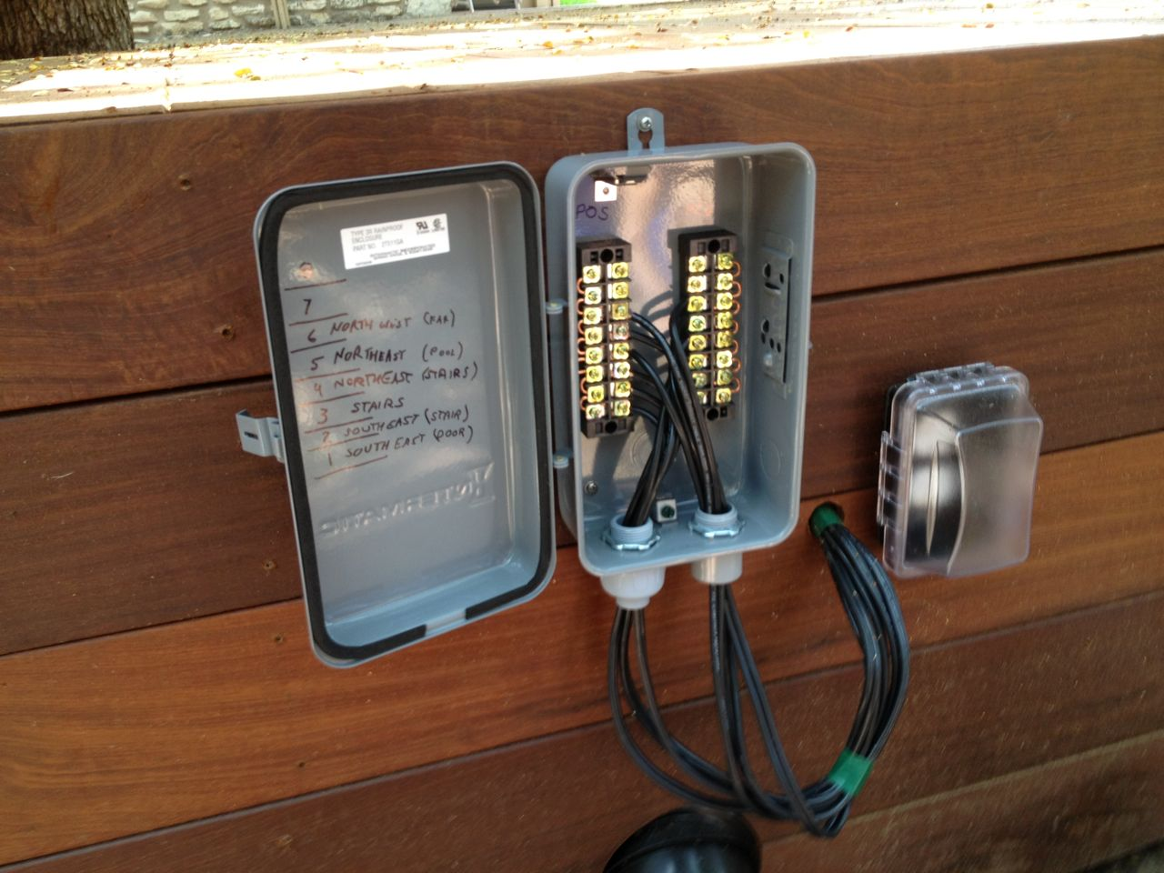 Deck Lighting Wiring Security Lights Back Images 2013 Terminal Box Installed250x188