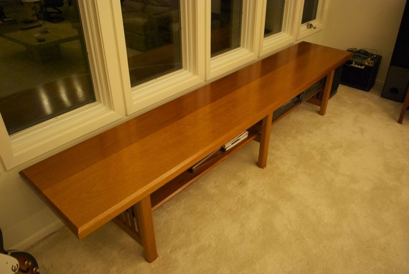 Images/long Benches/long Mahogany Bench In